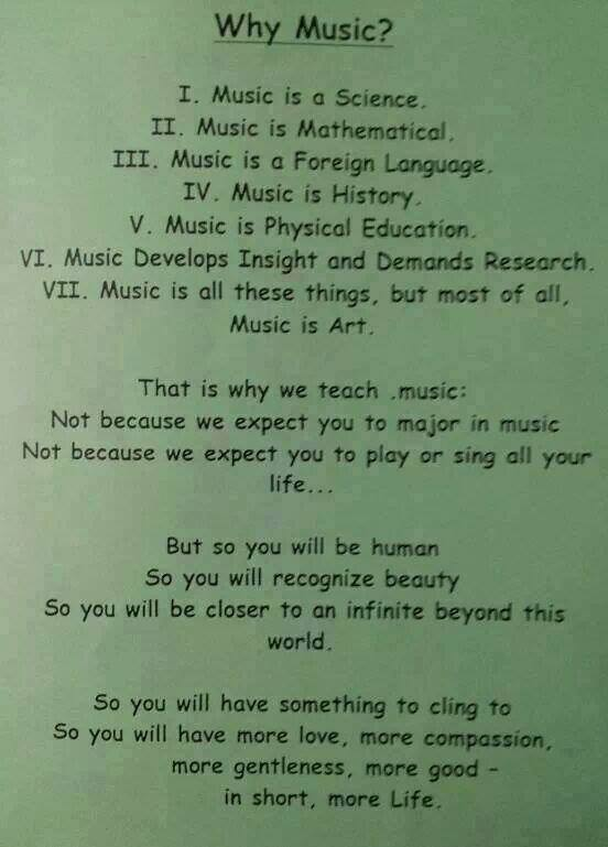 Many reasons for #music