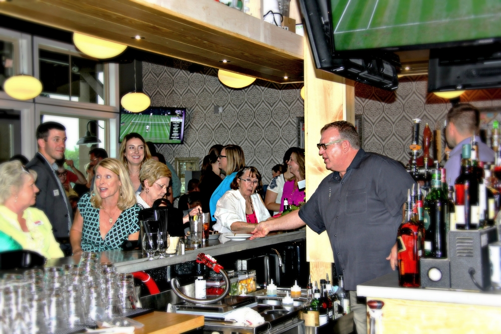 Andy serving the crowd
