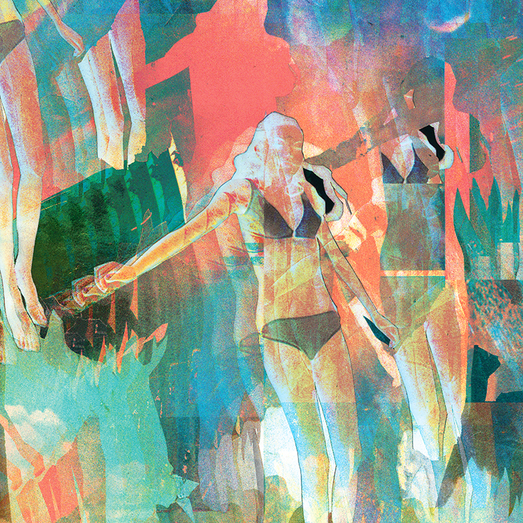 In Fiction, collage digitally manipulated