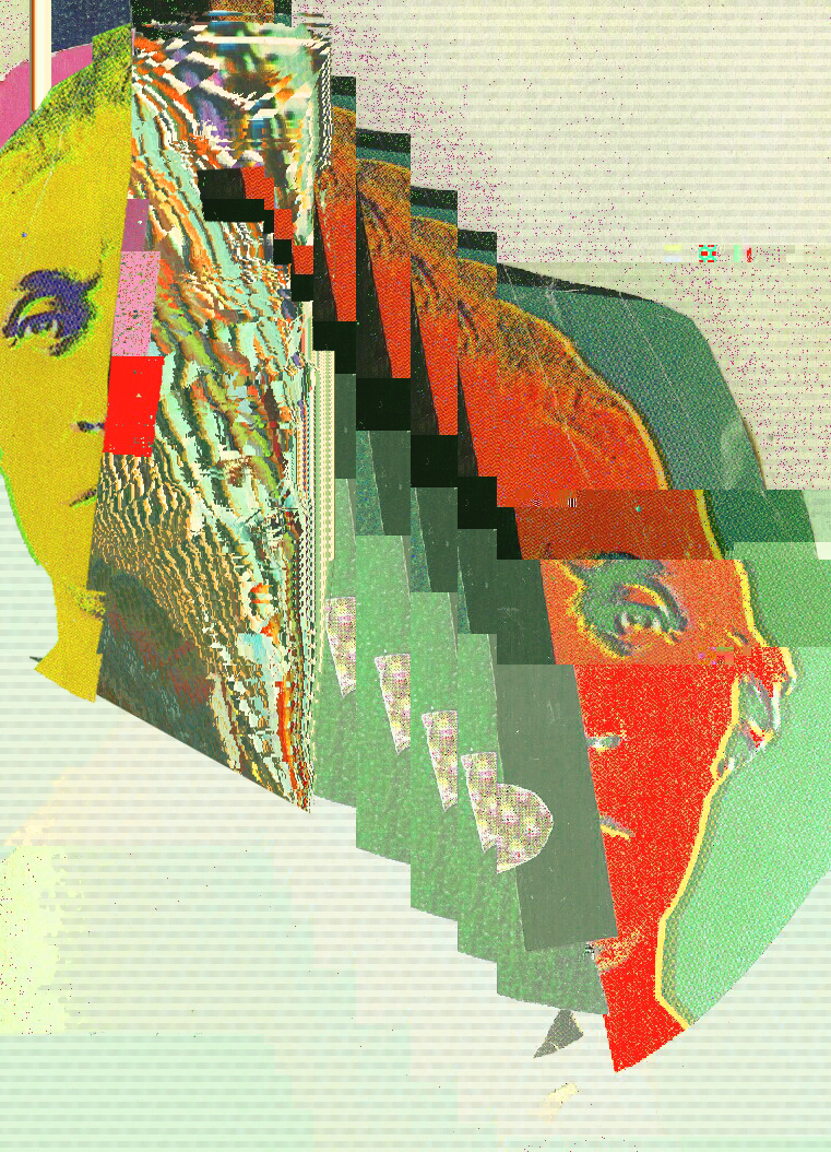 All This Has Happened Before And Will Again  , analog collage glitched