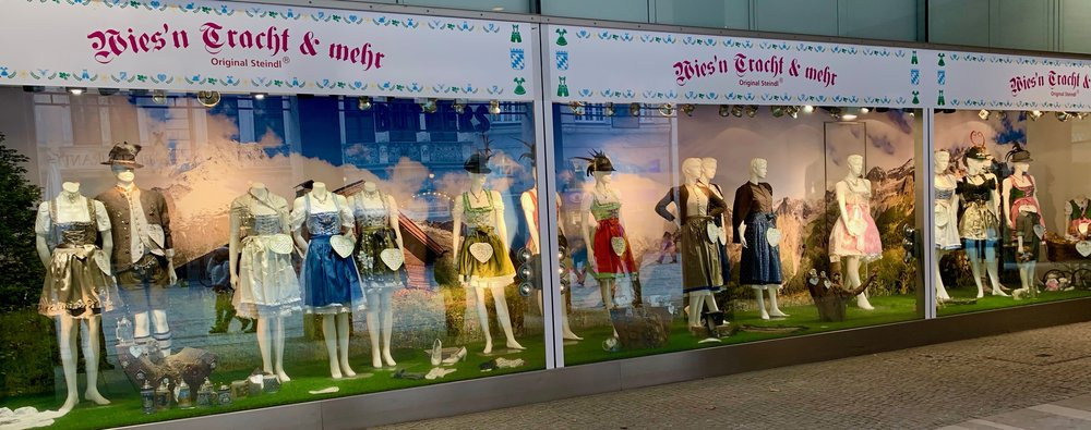 Traditional costume store in Munich, Germany.
