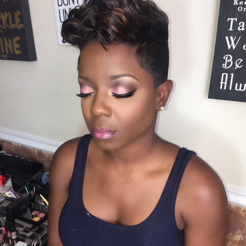 You can take a bright bubble gum pink lipstick to a subtle salmon color by simply lining the lips with a plum or brown lip liner.