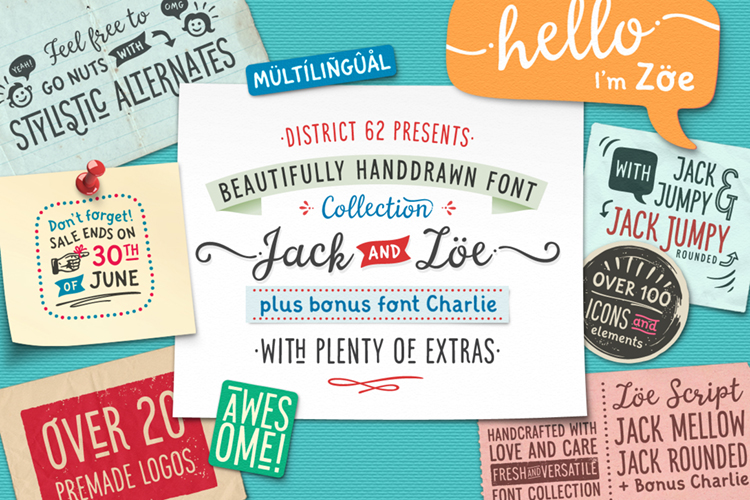 JACK & ZOE FONT COLLECTION