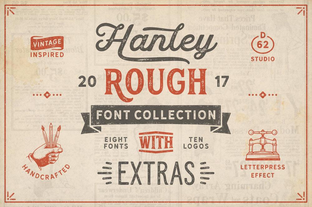 HANLEY ROUGH FONT COLLECTION