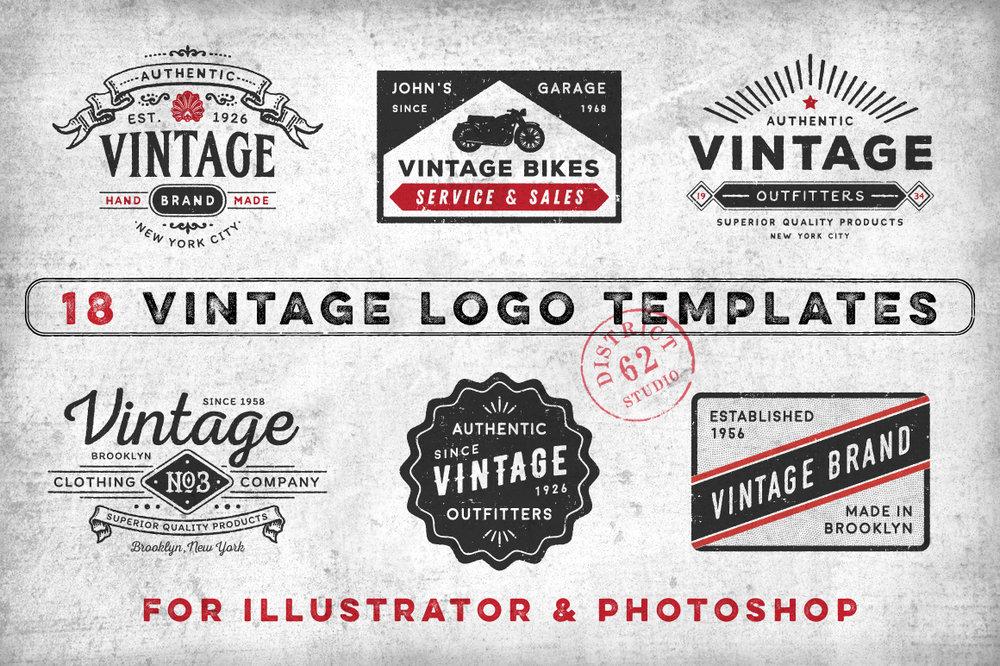 18 Vintage logos Vol 1