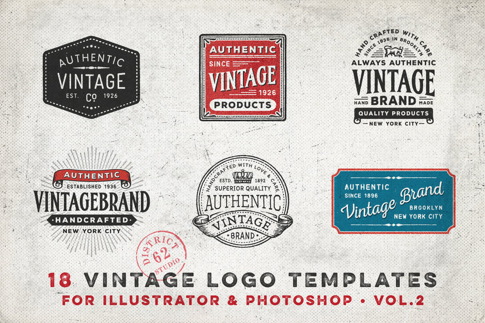 D62 Vintage Logos Vol 2