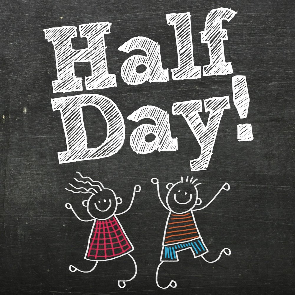 Tomorrow 9.28 - September 28th is a half-day of school. Students are dismissed at 11:30am. If your child rides a bus, they will arrive home earlier than usual. If you pick up your child, please arrive for the pickup line at 11:30am.