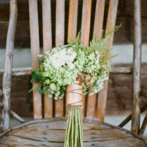 Featured on Style Me Pretty, this rustic Kentuck Knob wedding was eclectic and composed of 100% local flowers.