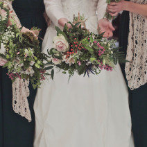 We brought nature inside for this wedding in a winter blizzard, featured on Project Wedding.