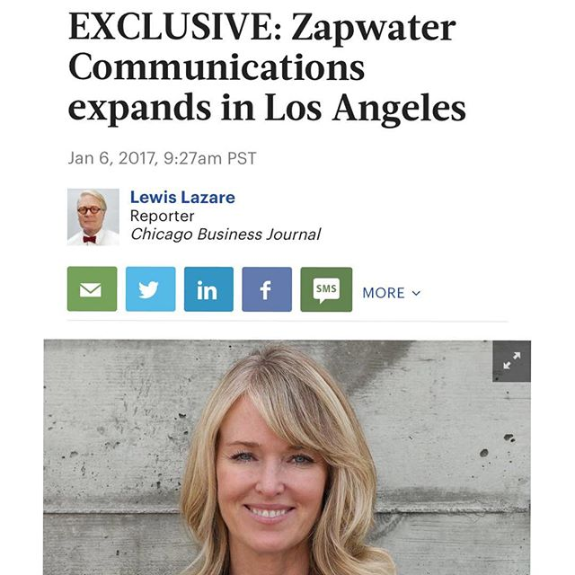 We are pleased to announce our acquisition by @zapwater communications.