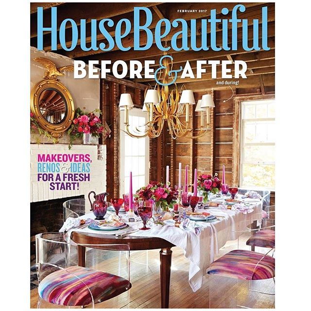 Pick up the new issue of @housebeautiful featuring our client @christinemarkatosdesign's tips on paint colors that will improve any room.