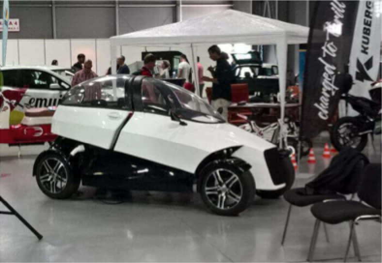 The 4ekolka is an all-electric car made entirely through the use of 3D printing.