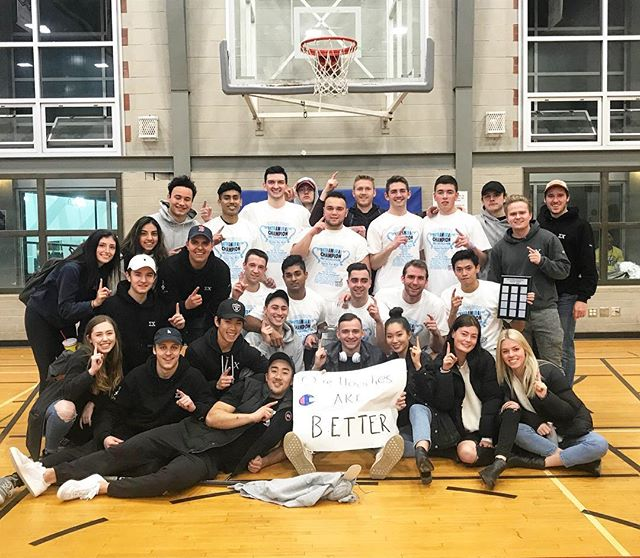 Congratulations to our @SigmaChi Eagles basketball team for taking the W against @kappasigmaubc in tonight's finals! 🏀🏆 // #UBCRec #undefeated