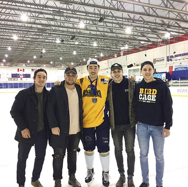 Congratulations to Brother Kyle Uy (@kyleuy_) on winning the 2018 Pacific Junior Hockey League Championship with the Delta Ice Hawks! We are incredibly proud of you! 🏒 // #FeaturedSig #icy