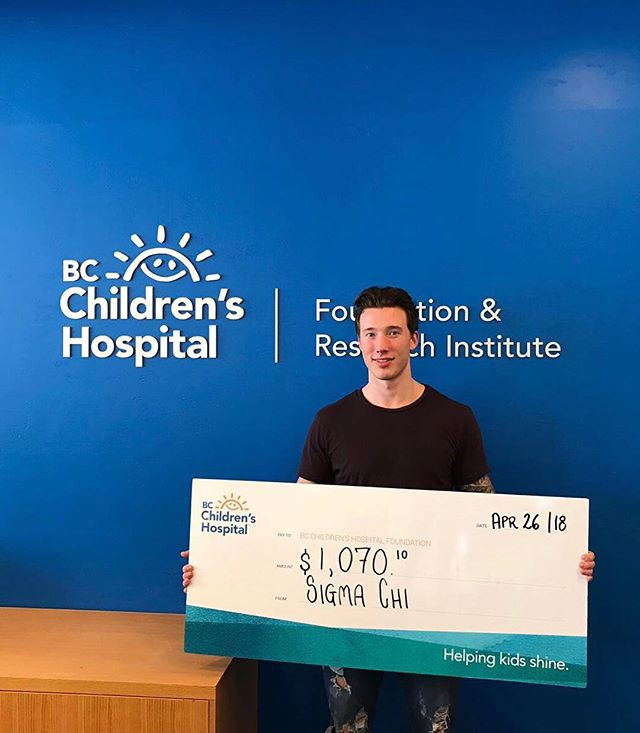 Thank you to everyone who donated to our annual @SigmaChi Charity Calendar campaign this year for the BC Children's Hospital! We raised just over $1000 this year thanks to you all 🙏🏼 // #BCCH