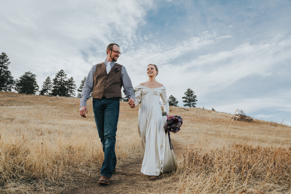 Amanda and David Boulder Colorado Elopement