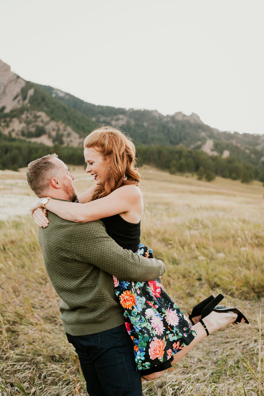 Laura and Brett Boulder Colorado Engagement Session