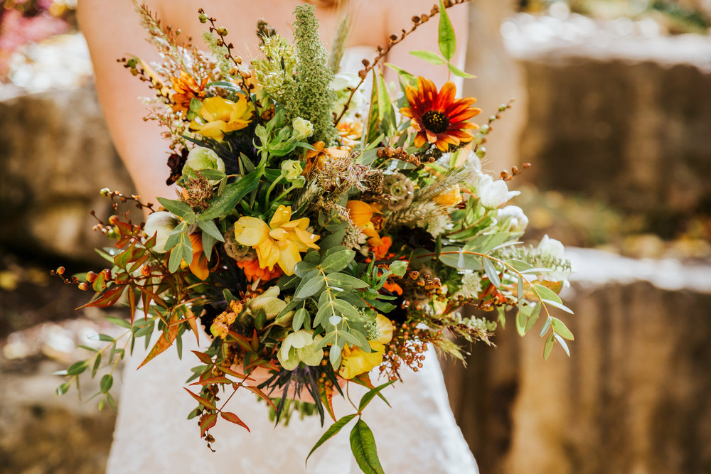 One of my favorite bouquets was by Pink Posey Design. This wedding was on September 22 in Vail Colorado. I loved the wild flower feel of this bouquet. -