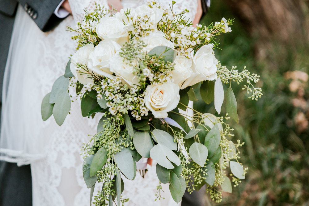 We had the opportunity to document Chase and Annalise's fun wedding on September 16th, 2018 and this was also one of our favorite bouquets. I love the natural colors and greenery. -