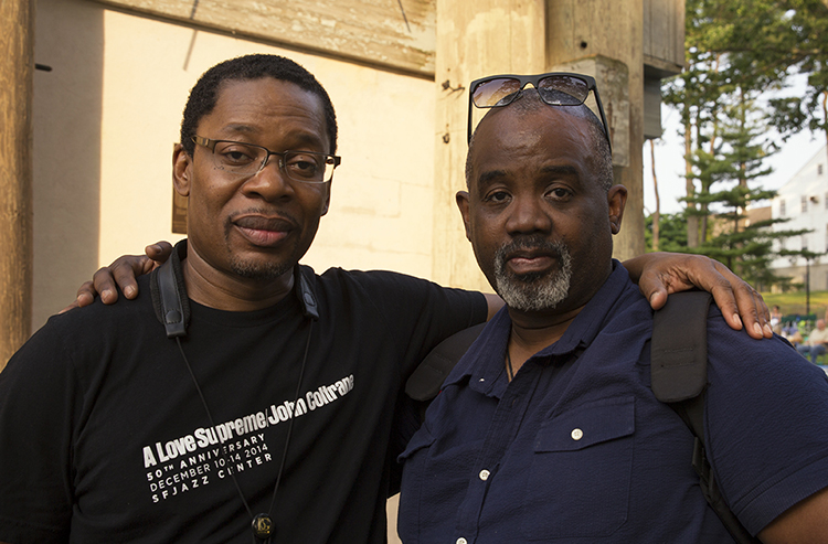Ravi Coltrane & myself taken at Coltrane Day 2015, Huntington NY