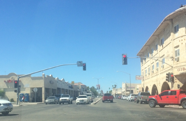 High noon on the main drag in the city of Brawley.