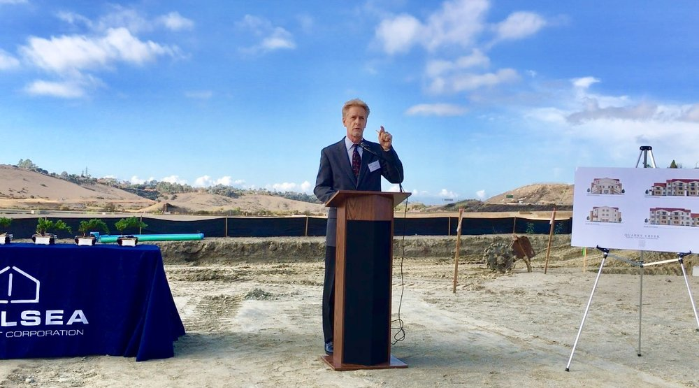 "After recognizing all of the contributing partners, Walter Heiberg thanked the city of Carlsbad, ""And lastly, the city of Carlsbad, who we consider a partner in this project as well, as they have been in all of our projects."""