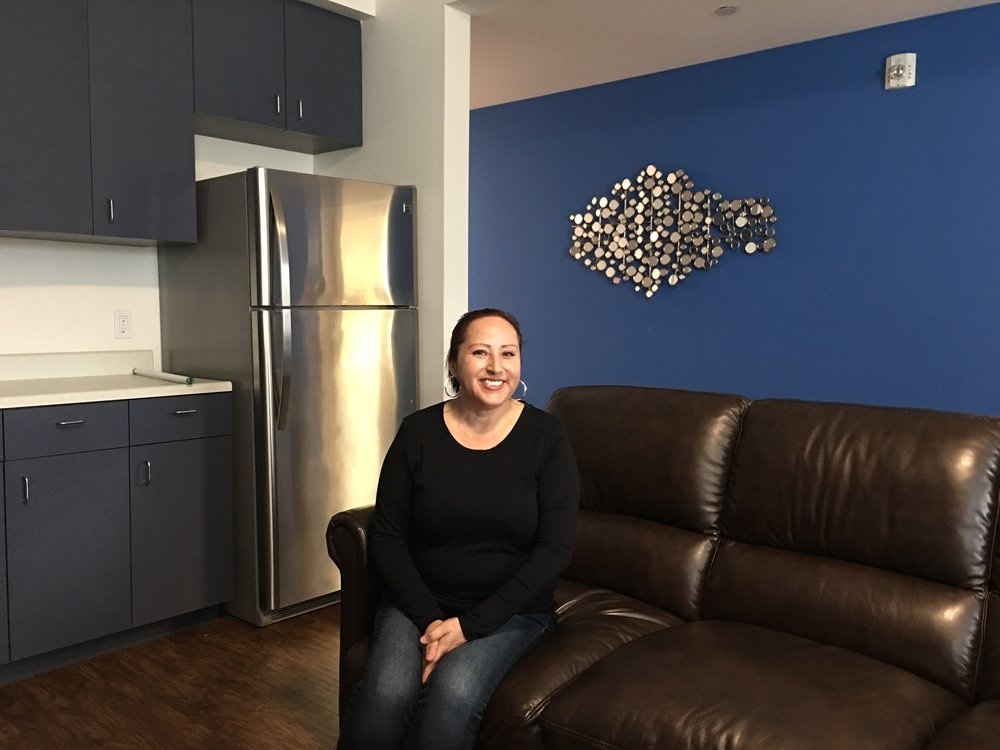 Agueda Aguirre shares a three bedroom Independence Point town home with her children, including her 5 year-old developmentally disabled son, Esteban.