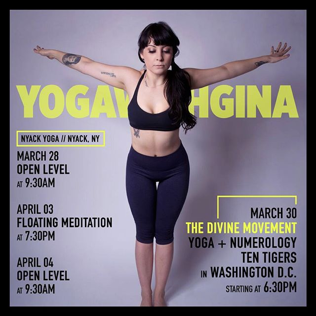 See you on the mat ⚛️ #YogaWithGina #TheDivineMovement