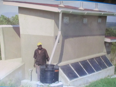 An Eco-San facility installed in Uganda (photo courtesy of Uganda Water and Sanitation Network)