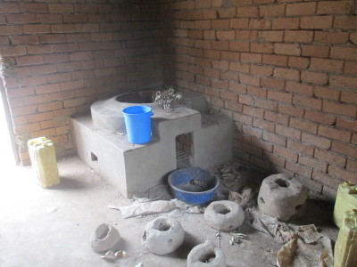 Toy firewood saving stoves for the Students around the big stove