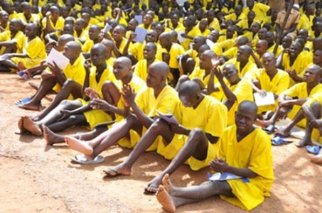 Ugandan prisoners at Masaka Prison have no classrooms in which to learn.