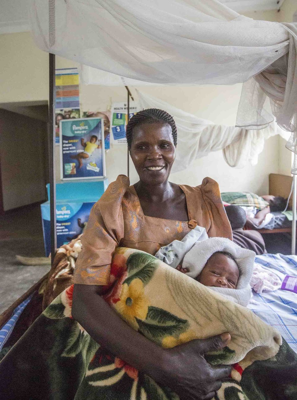 Healthy mother and baby at a BAMA supported maternity hospital