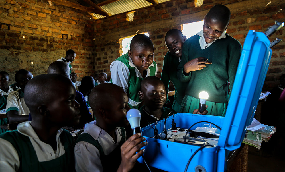 Students discover the power of the sun with the We Share Solar Suitcase