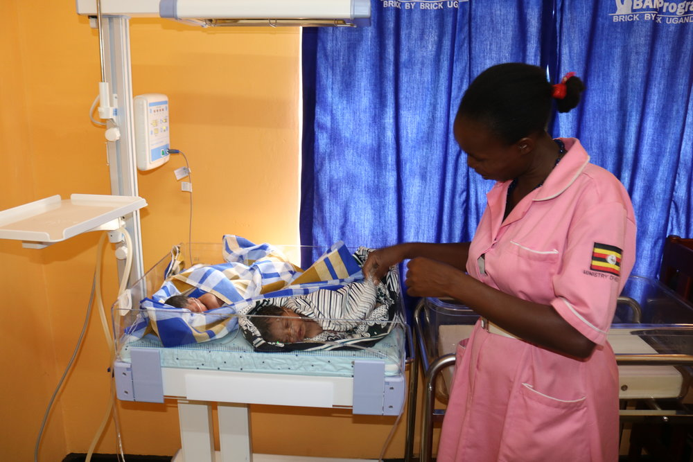 BAMA trained nurse caring for newborns at one of our two new NICUs
