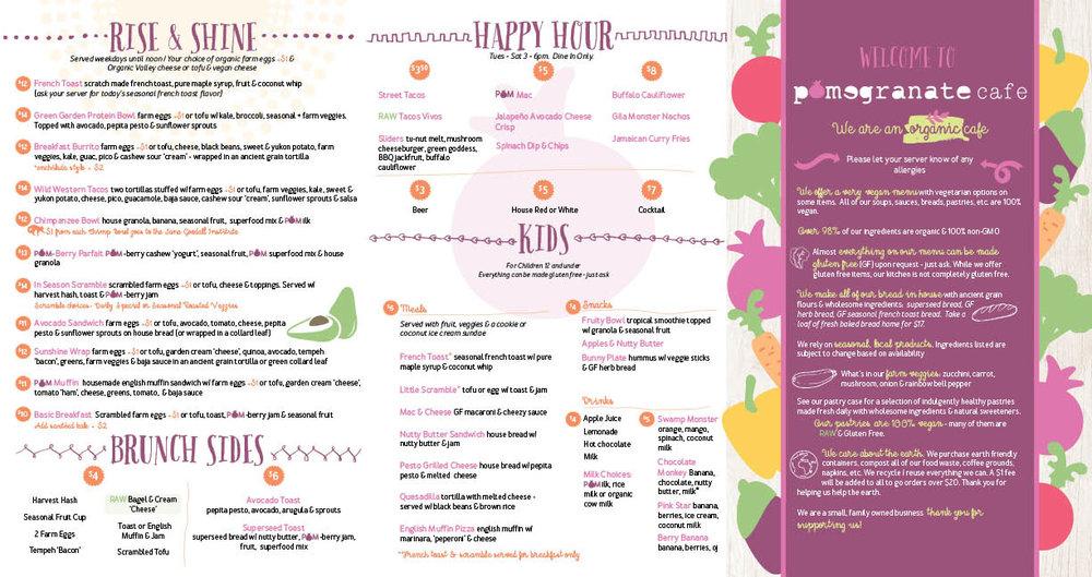 pomegranate cafe menu