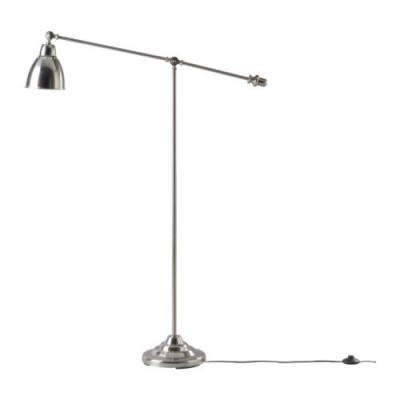 Ikea Barometer floor reading lamp, nickel plated