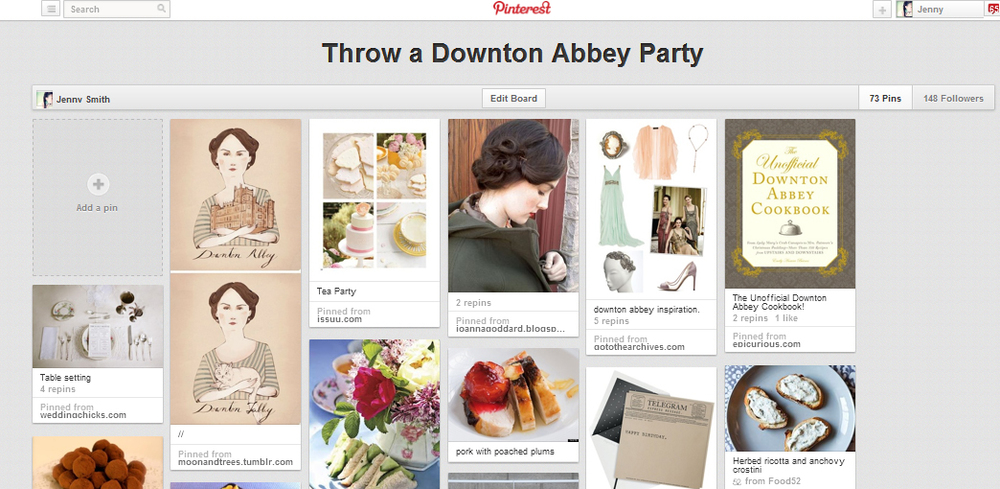 pinterest - How to throw a downton abbey party
