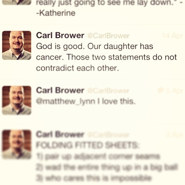God is Good. My Daughter Has Cancer. Those two statements do not contradit each other.