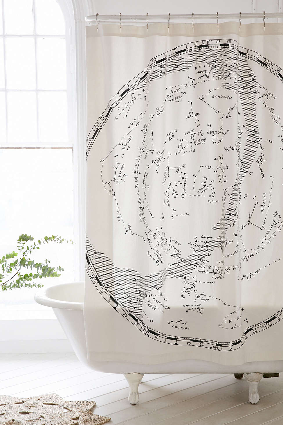 Urban Outfitters Constellation Shower Curtain