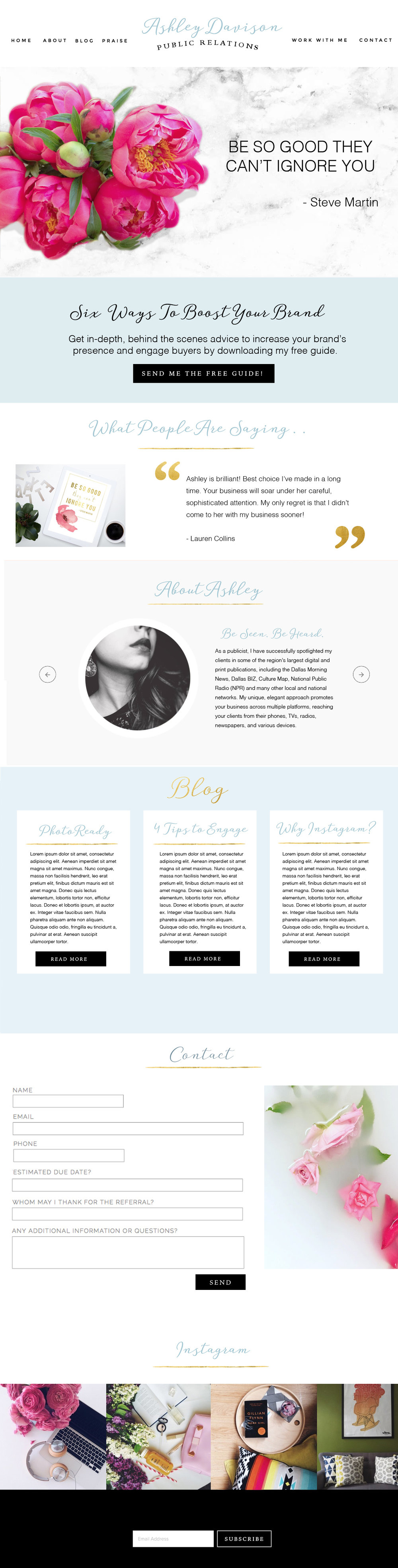 Ashley Davison - Beautiful Web Design