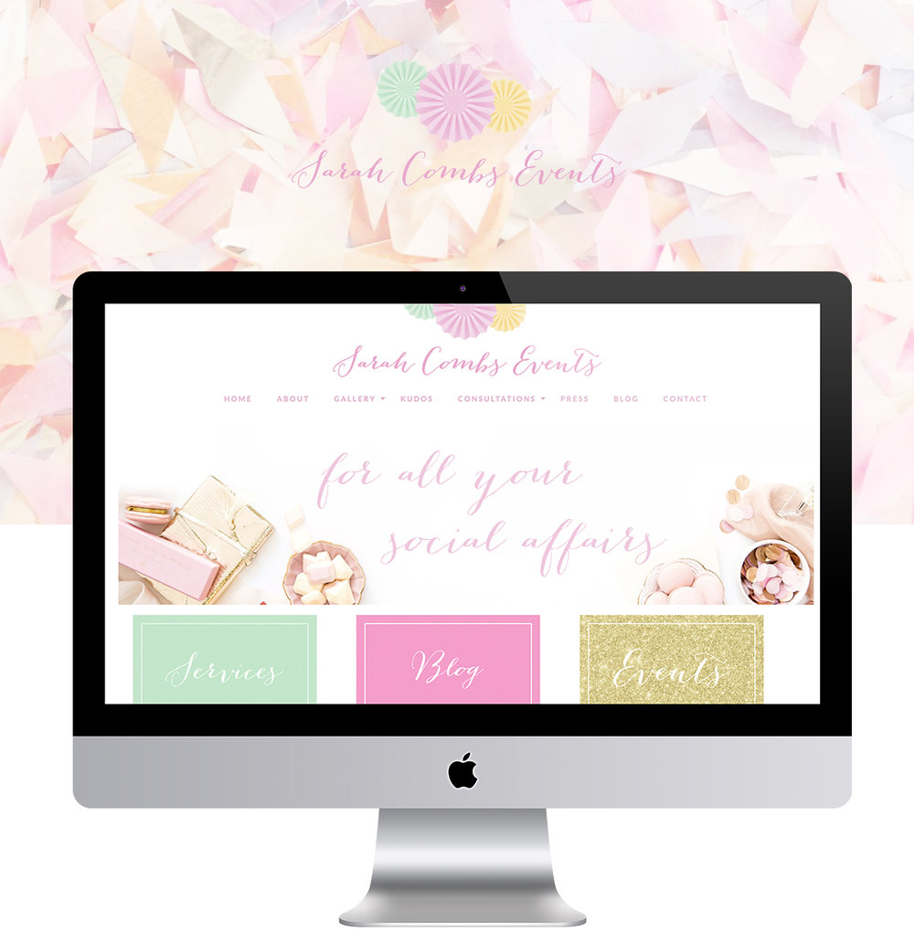 Sarah Combs Events - Beautiful, Feminine, Modern Website Design