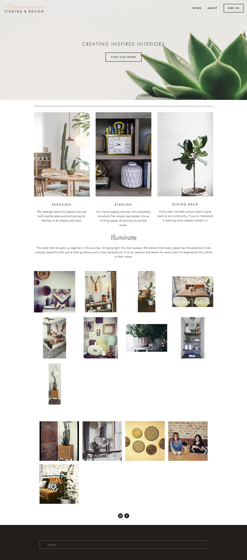 Illuminare - Staging and Design | Beautiful Responsive Website Design - Squarespace