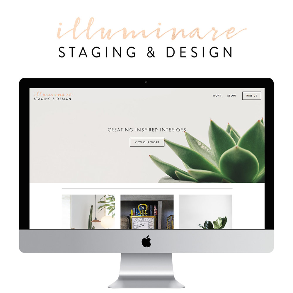 Illuminare Staging & Design - Chic, sophisticated Squarespace and Logo Design