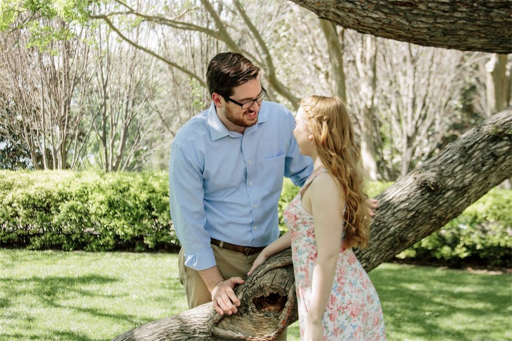 Engagement Photos at the Arboretum