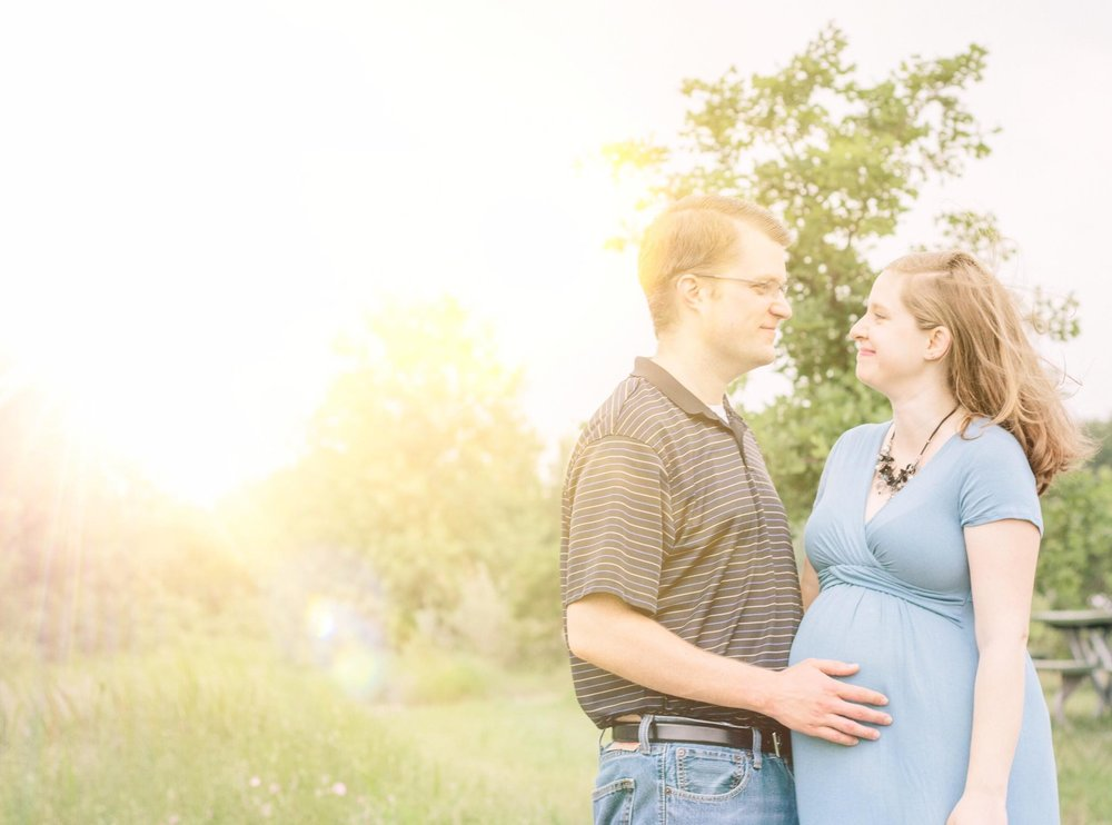 Maternity Session in Denton, TX in Wildflowers