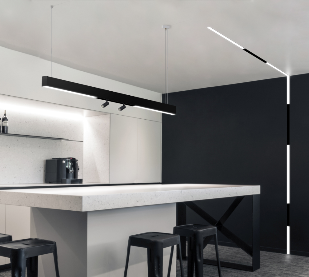 KLICK  Maximize creativity with the ideal choice for modu-linear interior luminaires.