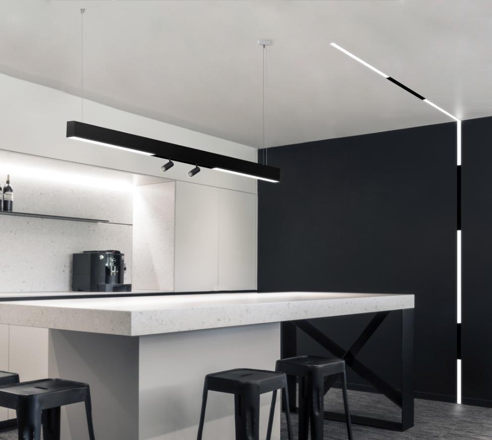 KLICK  Maximize creativity with the ideal choice for modu-linear interior luminaires.