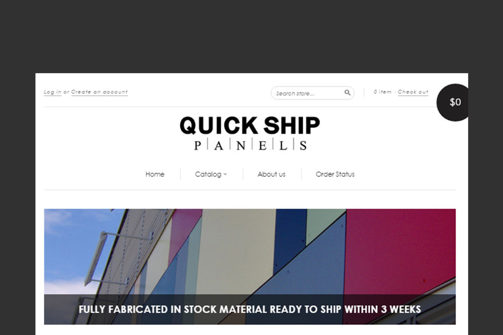 QUICK SHIP PANELS  E-Commerce website to offer and promote North America's Largest stocking distributor of TRESPA® Products.