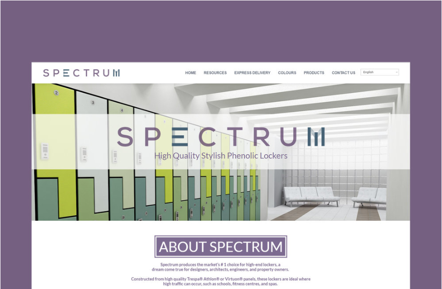 SPECTRUM LOCKERS  The market's #1 choice for high-end phenolic lockers. Constructed from TRESPA® phenolic panels.