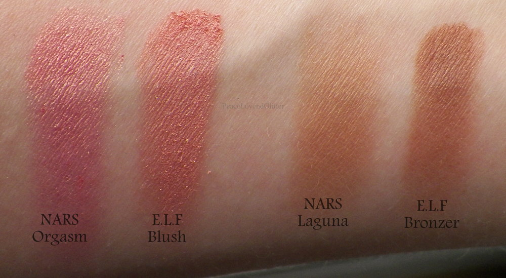 I did get both pictures off of google because I currently do not own the NARS pallet because I am using the ELF one as it's replacement.